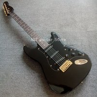 basswood verkauf großhandel-Kostenloser Versand / Spot Verkäufe / 22 Bünde / Basswood Körper / Ahorn Hals / Synthetischer Palisander / 6 Schnur E-Gitarre / Gold-Hardware / Kein Logo