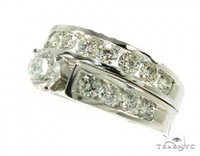 Wholesale lady ring green stone - Ladies Women Diamond Engagement Round Cut H Color 14k White Gold 2.10ct