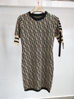 Wholesale Designer Dresses Runway - New Summer Women Dress Short Sleeve Dresses Knitting Luxury Occident New Vestidos Free SHipping Wholesale Designer Dresses.