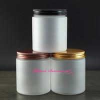 boş kozmetik kavanoz kutuları toptan satış-30 adet / grup 250g 8 oz PET Plastik Kozmetik için Buzlu ambalaj kapları, boş losyon kavanozları 250 ml güzel kozmetik ambalaj buzlanma kavanoz.