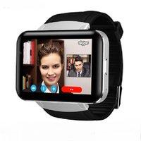 3g spor toptan satış-SIM Kart Ile DM98 GPS 3G Akıllı İzle Android Pedometre Spor Izci Smartwatch Telefon 900 mAh Wifi BT4.0 Kol Erkekler