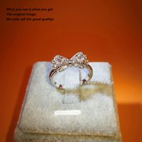 Wholesale High Quality Cz Wedding Rings - S925 Butterfly finger ring for Lady CZ Zircon Exquisite Women Wedding Engagement Ring Silver High Quality jewelry