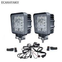 nebelscheinwerfer für boote groihandel-ECAHAYAKU 2x 27W 4-Zoll-Offroad-Spot-Flood LED-Arbeitslichtbalken 4WD-LKW-Traktor-Bootsanhänger 4x4 SUV-ATV-Nebelscheinwerfer