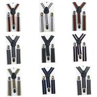 ingrosso bretelle a righe-Bretelle a righe regolabili per bambini 2019 new baby Elasti Braces Clip per cinturini bambini 8 colori Cinture C3914