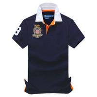 polo shirt erkek klasik toptan satış-Ücretsiz kargo yaz seçimi Sıcak Satış klasik moda Kısa Kollu Polo erkek Gömlek 108 #, Damla nakliye
