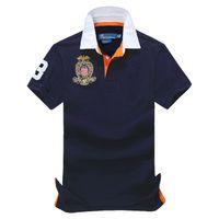 camisas de verano para hombres al por mayor-Envío gratis La opción de verano Venta caliente clásica de moda de manga corta Polo hombres camisa 108 #, envío de la gota