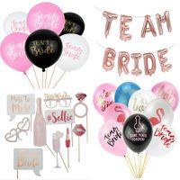 ingrosso pallone da sposa-Team Bride To Be Balloons Just Married Banner Decorazione di cerimonia nuziale Addio al nubilato Photobooth Addio al nubilato
