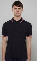 fred jersey großhandel-High Grade Sommer neue Männer Brit Polo-Shirt London Fred Männer Baumwolle Kurzarm Solide Hemd Marken Trikots Sommer Herren Polo-Shirts
