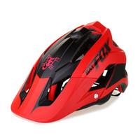 ingrosso casco casco mtb-2018 nuovo casco da bici ultraleggero casco da bici da mtb di alta qualità stampaggio complessivo ciclismo 7 colori BAT DH AM