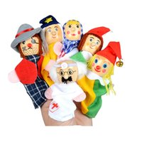 Wholesale baby children play doll for sale - Group buy New Play House Toy Finger Doll Puppet Children Educational Toys Plush Parent Child Story Baby Comfort Toys cw WW