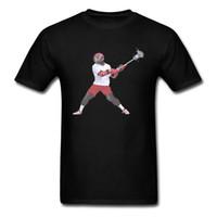 rabatt menssommerhemden großhandel-Mens Tees Lacrosse Bär 2018 Rabatt Sommer Top T Shirts Baumwolle Stoff Kurzarm Party T-Shirt Rundhalsausschnitt