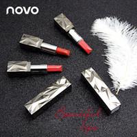 Wholesale moisture lipsticks for sale - NOVO Brand matte lipstick Moisture Nutritious lip blam waterproof long lasting batom Makeup cosmetics colors lipstick