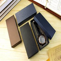Wholesale elegant leather watch - Wholesale free shipping Top quality luxury brand big Blue jewelry brown gift classic elegant leather strap watch box matrix boxes packaging