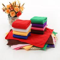 hände waschen großhandel-Quadratisches weiches Microfiber-Tuch-Auto-Reinigungs-Waschlappen-Handtuch-Haus-Reinigungs-Tücher geben Verschiffengroßverkauf frei