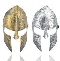 Wholesale Masquerade Mask Knight - Spartan warrior mask knight hero venetian masquerade masked ball helmet full face mask halloween fancy dress party vintage masks gold silver