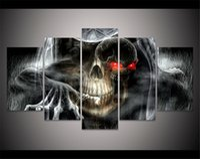 скелетные части оптовых-Скелет Черепа, Хэллоуин,5 шт. Home Decor HD печатный современное искусство живопись на холсте (без рамы / в рамке)