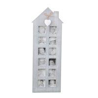 aufzeichnungsrahmen großhandel-Holz Bilderrahmen Retro Bilderrahmen Unregelmäßige Kunst Baby Wachsende Aufnahme Bild DIY Familie Bilder Display Wand Wohnkultur