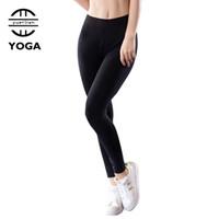 meninas calças apertadas vestido venda por atacado-Hot Yoga Calças Meninas Leggings 2018 Calças Justas Calzas Mujer Leggings Calças Esportivas Roupa De Academia Mulheres Correndo Vestido Calças