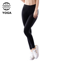ingrosso pantaloni stretti delle ragazze-Hot Yoga Pantaloni Ragazze Leggings 2018 Collant Calzas Mujer Leggings Pantaloni sportivi Roupa De Academia Women Running Dress Pants