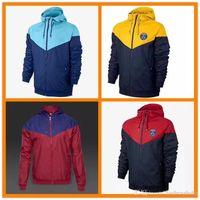 Wholesale america jacket - 2018 New zipper windbreaker Mexico America team long sleeve jacket coat 17 winter sports Messi windbreaker 18 Neymar hoodie plus