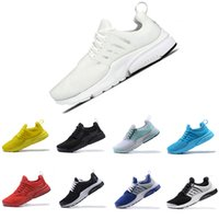 Wholesale mens soles - 2018 Presto 5 BR QS Breathe Black White Yellow Red Men Women Running Shoes Prestos Sports Shoe air sole Walking Mens designer Sneakers