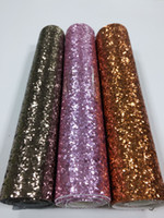 manteles para eventos al por mayor-Tela de Lentejuelas multicolor 25 * 100 cm Lentejuelas tela de PU Spark coth para Mantel Table Runner Spark Party Events