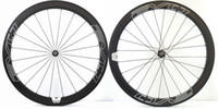 Wholesale light road bike wheels online - EVO C mm depth Road bike carbon wheels mm width clincher tubular bicycle super light aero carbon wheelset with Pillar spoke