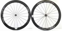 bora ışıkları toptan satış-EVO 700C 50mm derinlik Yol bisikleti karbon jantlar 25mm genişlik kattığı / boru şeklindeki bisiklet ayağı ile süper hafif aero karbon tekerlek konuştu