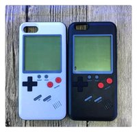 Wholesale iphone plus game case - Game Console Tetris Gameboy Phone Cases Play Game Console Cover Retro Shockproof Protection TPU Silicone Case For iPhone X s Plus