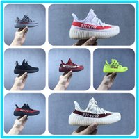 Wholesale sheepskin baby boy - Baby Kids Shoes Kanye West SPLY 350 Running Shoes for children V2 Boost Black Red Yellow Shoes Boys Girls Beluga 2.0 Sneakers.