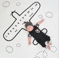 Wholesale Twill Letters Wholesale - baby Flower Printed Blanket photography background props baby photo backdrop Ins Infant Blankets Wraps Photography Wraps KKA4194