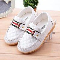 sapatos rígidos para bebé venda por atacado-2018 novas calçados casuais das crianças ervilhas sapatos Coreano selvagem meninos meninas sapatilhas de moda bebê macio fundo da criança sapatos