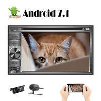 pantalla frontal china al por mayor-Octa Core Android 7.1 coche DVD Car Stereo Bluetooth navegación GPS coche universal Navi 6.2 '' pantalla doble Din HeadUnit FrontBackup cámara