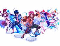 fadas acrílicas venda por atacado-Anime FAIRY TAIL Natsu Lucy Erza Cinza Wendy Acrílico Stand Figura Halloween Cosplay Desk Stand Figura Toy Presente de Natal