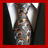 Wholesale neck tie solid for sale - 95 Styles Men Silk Ties Fashion Mens Neck Ties Handmade Wedding Tie Business Ties England Paisley Tie Stripes Plaids Dots Necktie