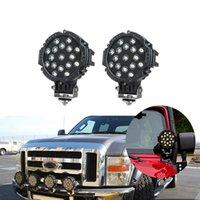 hohe leistung atv großhandel-ECAHAYAKU 2 stücke 7 zoll 51 Watt Auto Runde LED Arbeitslicht 12 V High Power Spot Licht Für 4x4 Offroad Lkw Traktor ATV fahrlicht