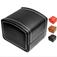 Wholesale bangles display cases resale online - Luxury Watch Box Durable PU Leather Watch Boxes Bracelet Bangle Jewelry Wrist Watch Display Case With Pillow Storage Box