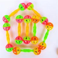 jouets de développement pour bébé 12 mois achat en gros de-Bébé Jouet Hochets Bells Secouant Dumbells Jouets De Développement Précoce 0-12 Mois