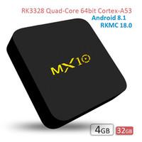 Wholesale android tv boxes rockchip online - Android TV Box GB ram GB rom Quad core Rockchip RK3328 Smart TV Box K UHD video streaming G G MX10 Media Player