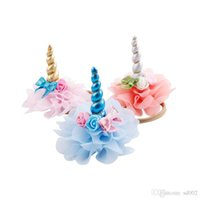 Wholesale party violet dresses for sale - Group buy Hair Belt Dress Up Head Ornaments Floral Headband Hairs Accessories New Arrival Cute Unicorn Pattern Birthday Party Supplies sp ii