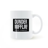 red coffee mug ceramic UK - Dunder Mifflin (The Office) World's Best Boss TV Television Mug Coffee Milk Ceramic Creative DIY Gifts Home Decor Mugs 11oz C163