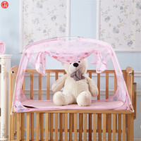 Wholesale folding yurt for sale - Group buy Home textile pink mosquito net for children kids baby infant bed net mongolian yurt mesh netting folding purple cute insect