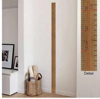 niños midiendo alturas al por mayor-regla altura medida pegatinas de pared para habitaciones de los niños decoración del hogar carta de crecimiento poster mural etiqueta de la pared