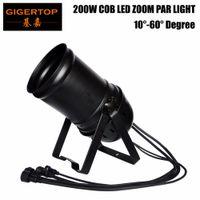 ingrosso luci di par cans-Indoor Zoom LED luce della fase Par Cans DMX-512 di illuminazione laser del partito proiettore TIPTOP luce della fase 200W COB ha condotto la luce par Zoom