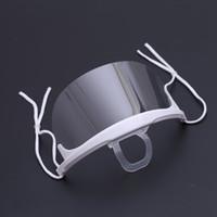 kaliteli dövme makyajı toptan satış-Yüksek kalite 10 adet Plastik Temizle Maske Kalıcı Makyaj Dövme Malzemeleri Spittle Anti-sis Şeffaf Lens Dövme Aksesuarı Önlemek
