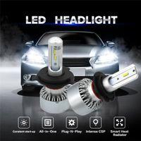 Wholesale audi led headlamp - WLJH Canbus Car Light LED H7 Headlight Conversion Kit Bulbs H4 Dual Beam LED 9003 HB2 High Low Beam H4 LEDs Headlamp 11V-30V