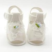 bebek kumaş sandaletler toptan satış-Kızlar Için çiçek Çocuklar Sandalet Yaz Prenses Ayakkabı Bebek Yürüyor Çocuk Yumuşak Pamuk Kumaş Sandal Kız Ayakkabı 2017