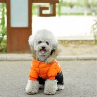 köpek su geçirmez hoodies toptan satış-Yeni Tasarım Kış Pet Köpek Giyim Küçük Köpekler Su geçirmez Köpek Coat kalın Pamuk Hoodies için Süper Sıcak Aşağı Ceket