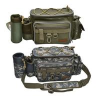 señuelo de la cintura al por mayor-Bolso de cintura outdoor travel army verde Lure Messenger Bag Polo paquete de pesca BagTackle 40 * 19 * 15cm