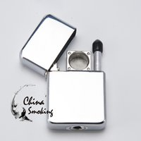 Wholesale Printed Lighters - Lighter Pipe Without Printing Designs Easy To Take 1 Pc Opp Bag 10 Pcs Inner Box Smoking Pipes Portable